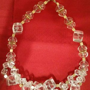 Vintage Napier Lucite and Gold toned Choker